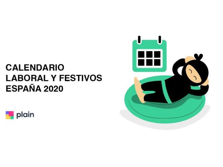 Calendario laboral y festivos España 2020