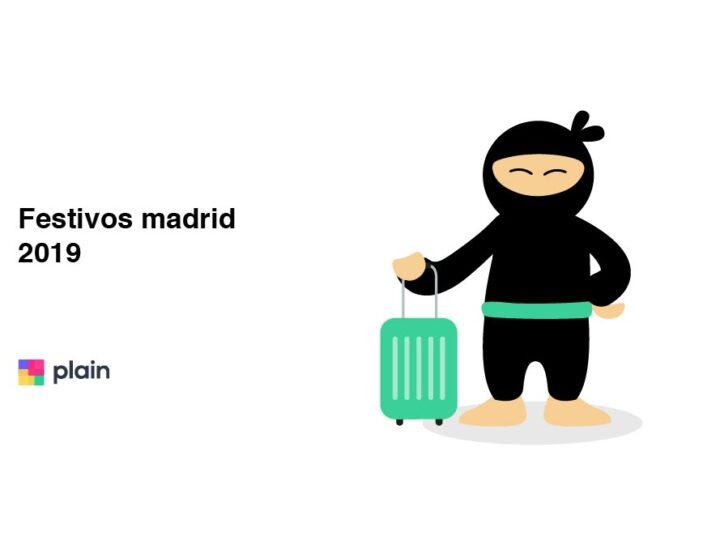 festivos Madrid 2020
